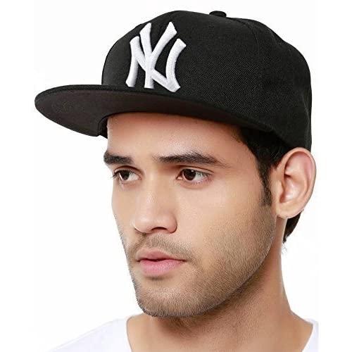 df53def44be BLUE DIAMOND NY White Hip Hop Cap Boy s Cotton Snapback Baseball (Black    White)