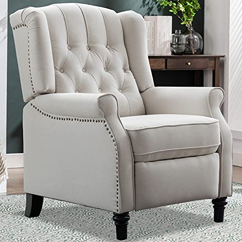 CANMOV Pushback Recliner Chair, Elizabeth Fabric...