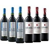 Vino Tino Lote'Fusión' Vino Tinto Joven Luis Cañas 3 Botellas + Vino Tinto Crianza Luis Cañas 3 Botellas - Un gran vino calidad precio D.O.C. Rioja - Caja Vino 6 Botellas