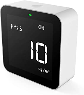 Temtop P10 Air Quality Monitor for PM2.5 AQI Professional Particle Sensor Fine Dust Detector Real Time Display Rechargeabl...