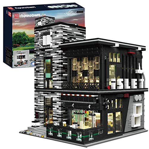 DSXX City Bar Haus Bausteine Bausatz, Modular Buildings, Konstruktionsspielzeug Kompatibel mit Lego Haus (3992 Pcs)