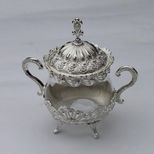 5 popular Unique European Style Gold Silver Salt Glass gift Metal Suga Finish