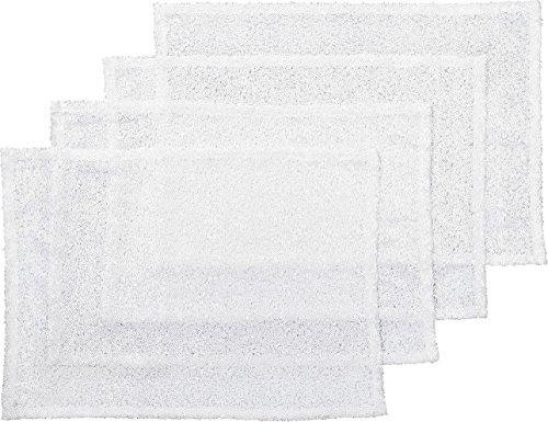Golden Lutz® 4 Platzdeckchen mit aufgenähten Pailletten (weiß, ca. 33 x 45 cm) | MERADISO