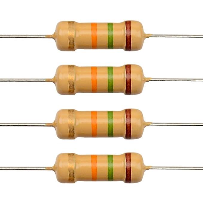 20pcs Metal Film Resistor 1W 1/% 820K ohm 820Kohm 820KΩ