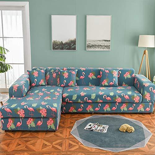 WXQY Funda de sofá nórdica, Funda de sofá de algodón, Funda de sofá Flexible para Sala de Estar, Adecuada para sofá Chaise Longue A2 de 2 plazas en Forma de L