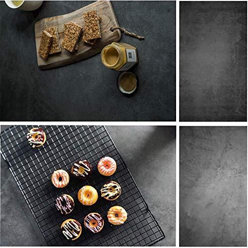 Selens 56x88cm 2in1 Hintergrund Schwarzer Zement Flatlay Tischplatte Fotografie Doppelseitiger Hintergründe für Gourmet Blogger, Kosmetik, Online Shops Produktfotografie, Lebensfotos