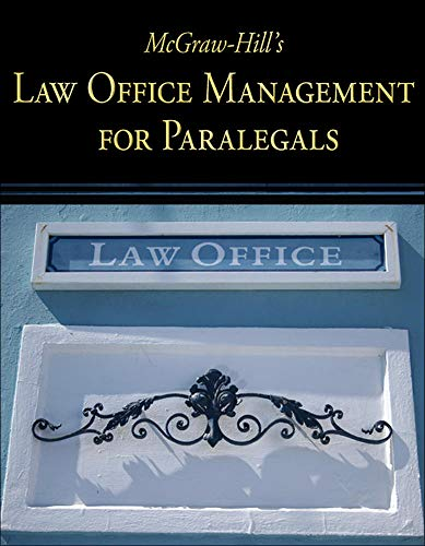 Compare Textbook Prices for McGraw-Hill's Law Office Management for Paralegals 1 Edition ISBN 9780073376943 by McGraw Hill,Technology, Curriculum