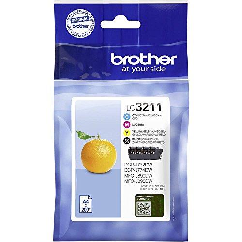 Brother Tinta LC de 3211valdr DCP de j772/4DW, MFC de j890dw