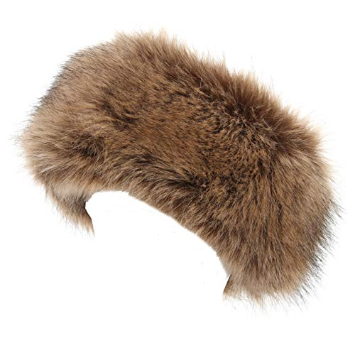 La Carrie Damen faux-pelz-stirnband mit stretch winter-earwarmer earmuff mittel