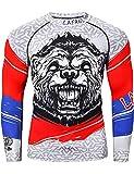 LAFROI Camisa de compresión de manga larga UPF 50+ Baselayer Performance para hombre CLY08 (Honor Strike, XL)