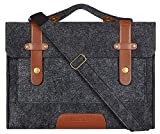 MOSISO Laptop Shoulder Bag Compatible with 2019 MacBook Pro 16 inch with Touch Bar A2141, 15-15.6 inch MacBook Pro Retina 2012-2015, Notebook, Felt Slim Protective Briefcase Sleeve Carrying Case Cover