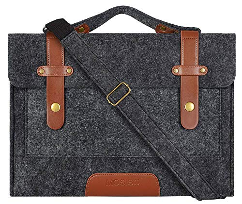 MOSISO Laptop Shoulder Bag Compatible with 13-13.3 inch MacBook Pro, MacBook Air, Notebook Computer, Felt Slim Protective Briefcase Sleeve Carrying Case Cover