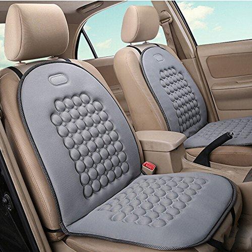 HomDSim Autositzauflage mit Massage-Funktion, universelle Sitzauflage, Auto Sitzüberzug (Grau - 2 Pack)