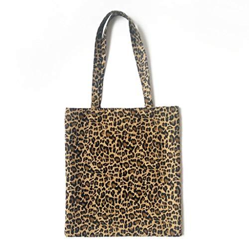 Wuli77 Bolsa de compras reutilizable, respetuosa con el medio ambiente, estampado de leopardo, bolsa de lona para mujer, para vacaciones, eventos de Navidad, fiestas al aire libre