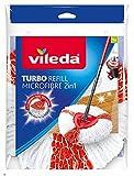 Vileda Recharge Turbo 2en1 - Microfibres rouges et blanches