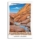 ASFGH Fuerteventura Kanarieninseln Vintage Reise Poster