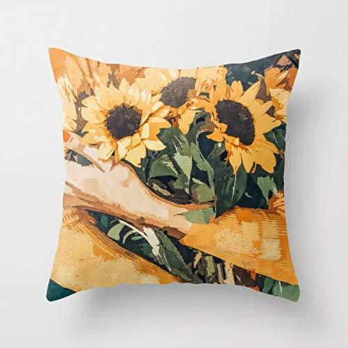 Fundas de colchón Pintura al óleo de las mujeres, funda de almohada con diseño de flores, fundas de cojín con diseño inspirado en Matisse, fundas de almohada decorativas para sofá, silla y hogar