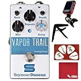 Seymour Duncan Vapor Trail Analog Delay Guitar Effects Pedal with Polish Cloth, Pick Card, Tuner, and Capo