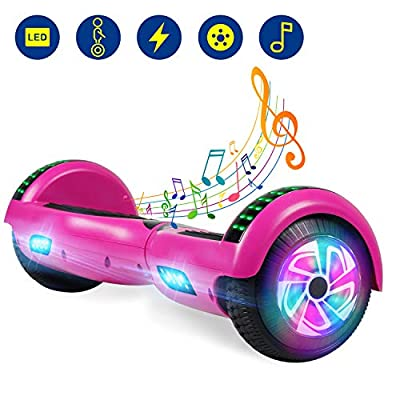 YHR Hoverboard with Bluetooth Self Balancing Scooter with Two-Flashing Wheel with UL2272 Certified for Kids and Adults