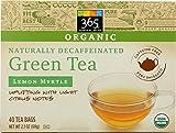 365 Everyday Value, Organic Decaffeinated Green Tea with Lemon Myrtle, 40 Tea Bags