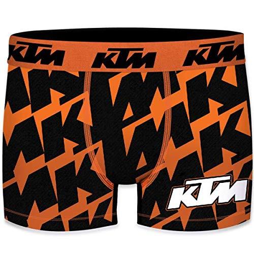 KTM heren boxershorts microvezel PNE6 oranje zwart