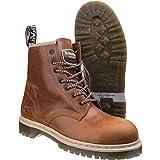 Dr Martens Icon Bottes de sécurité en cuir marron avec semelle rembourrée 3-13 orteil (UK 7)