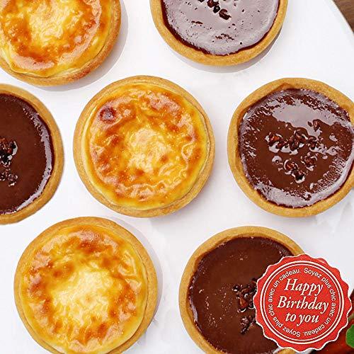 お誕生日 スイーツ ギフト パティスリー天使のおくりもの タルトアソート (お誕生日, チーズ&チョコ6個入)