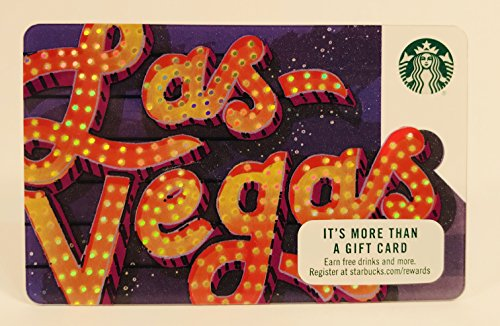 Starbucks Gift Card Collectible No Value 2017 Las Vegas City Card Limited Edition