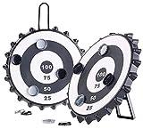Playtastic Dart-Scheibe: 2er-Set Magnetische Kronkorken-Dartspiele mit je 6 Kronkorken, Ø 24 cm...