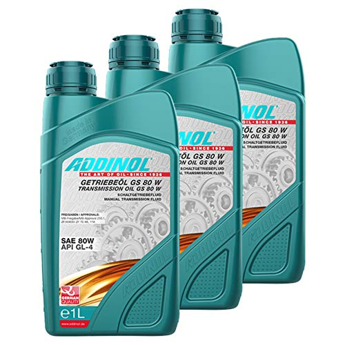 Addinol 3X Getriebeöl Gear Transmission Oil Fluid Lubricant SAE 80W Gs 80 W 1L 74200107