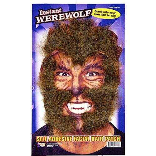 Forum Novelties Instant Werewolf Brown Facial Hair Kit Costume Accessory