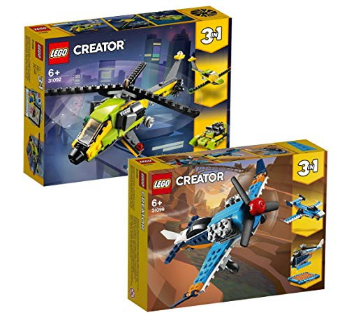LEGO Creator 3-in-1 Set Starke Flugzeuge: 31092 Hubschrauber + 31099 Propellerflugzeug