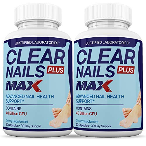 (2 Pack) Clear Nails Plus Max Pills 40 Billion CFU Probiotic Supports Strong Healthy Natural Clear Nails 60 Capsules