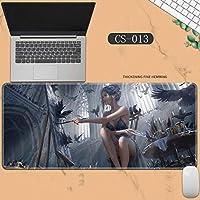 素敵なマウスパッド特大アイスプリンセスゴーストナイフ風チャイムプリンセスアニメーション肥厚ロック男性と女性のキーボードパッドノートブックオフィスコンピュータのデスクマット、Size :400 * 900 * 3ミリメートル-CS-013