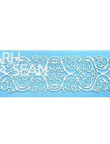 hlq European Pattern Sollievo Pizzo Instant Pizzo Strumenti di Stampo Silicone Muffa della Torta della Gola