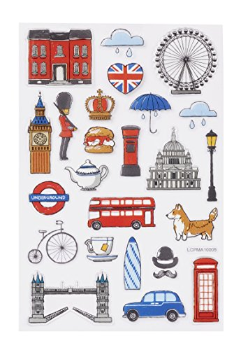Hobbyfun GLOSSY-Sticker England, Bogen 10 x 15 cm