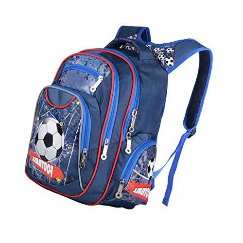 Boys Backpacks Kids Primary School Bags Football Hard Shell Rucksack Multilayer Red Football
