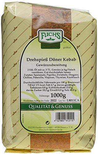 Fuchs Gewürze Drehspiess Döner Kebab, 2er Pack (2 x 1 kg)