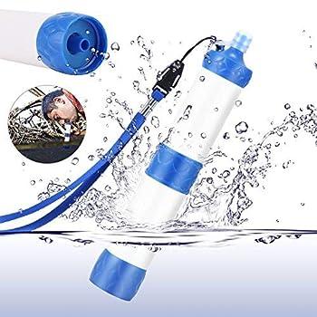 Wildlead Filtre purificateur d'eau, de plein air, portable, pour camping, randonnée, Kit de survie d'urgence, bleu