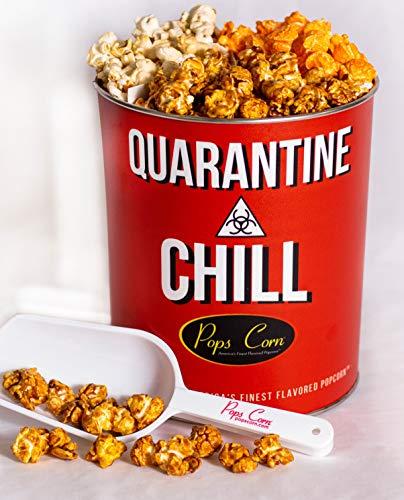 Pops Corn 1 Gallon Quarantine & Chill. 3 FLAVORS! FREE Sanitary scooper!