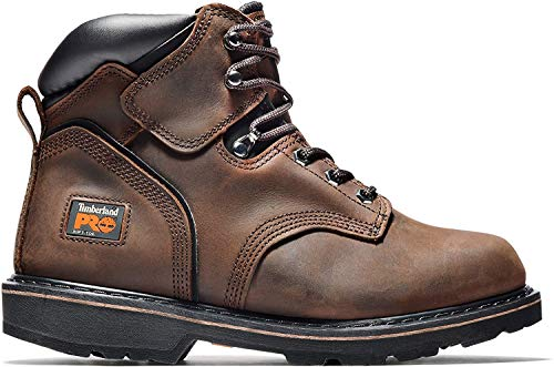 Timberland PRO Men's Pitboss 6' Steel-Toe Boot, Brown , 11 D - Medium