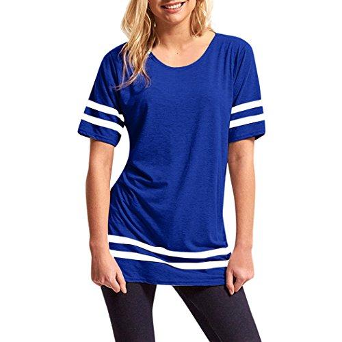 Maglietta delle Donne, L'ananas 2018 Magliette Sportive della Camicia del Bicchierino della Banda del O-Collo delle Vendite Calde di Estate (M/36, Blu)