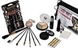 Bride Of Frankenstein Special Effects Makeup Kit By Bloody Mary - Professional Halloween Monster SFX Makeup - Includes Lipstick, Foundation, Setting Powder, 3 Crayons, 4 Brushes, Eye Shadow & Sponge