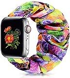 ShuYo Scrunchie Elastic Watch Band Wrist Bracelet for Apple Watch Band 38mm 40mm/42mm 44mm, Soft Elastic Wristbands Replacement Band Strap for iWatch Series SE/6/5/4/3/2/1 Women Girls (42mm/44mm)