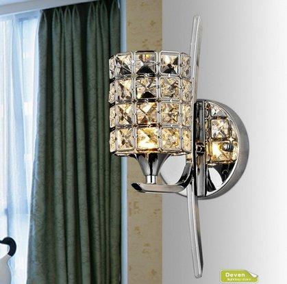 VanMe Cristallo Moderna Lampada Da Parete Applique Camera Da Letto Scale  Corridoio Parete Lampadario Lampadario Home Decor Lampada 40*12Cm