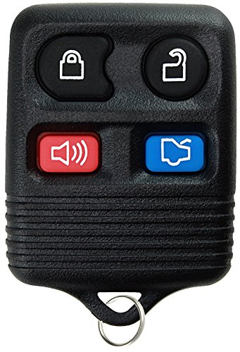KeylessOption Replacement Keyless Entry Remote Control Car Key Fob - Black