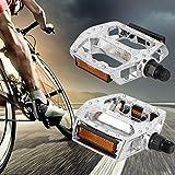 wosume 【𝐕𝐞𝐧𝐭𝐚 𝐑𝐞𝐠𝐚𝐥𝐨 𝐏𝐫𝐢𝐦𝐚𝒗𝐞𝐫𝐚】 Rodamiento de Bolitas Plano Antideslizante del Pedal de la Bicicleta de la aleación de Aluminio para la Bici de montaña 2pcs
