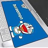 マウスパッド カスタム大型ゲームマウスパッドブルーアニメドラえもん、すべり止めマウスパッドウォッシャブル400×900mmのゲームに最適