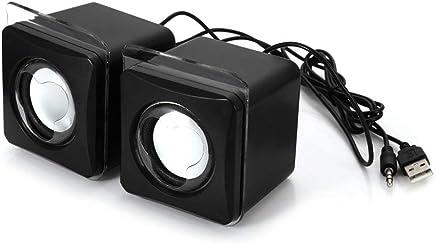 Erduo Maikou USB 3.5mm Aux Wired Altoparlante Music Player Mini 2.0 Canali Altoparlante multimediale per MP3 Telefono Notebook Desktop - Nero - Trova i prezzi più bassi