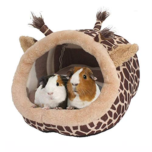 JanYoo Bunny Bed Guinea Pig Hideout Huts Accessories Habitat Tunnel for House